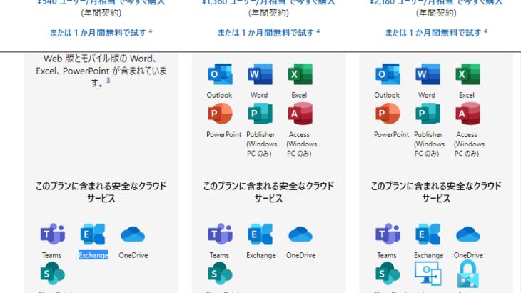 Microsoft 365 メール機能/OutlookとExchange Onlineの入手方法